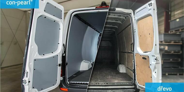 Podlahy a stěny užitkových automobilů