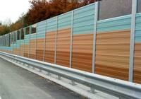 Protihluková stěna z panelů ALUMERO
