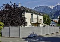 Dřepovlastová plotová stěna
