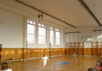 Polykarbonátové panely RODECA zasklení školní tělocvičny